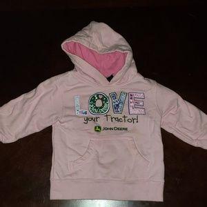John Deere pink hoodie size 18 mo